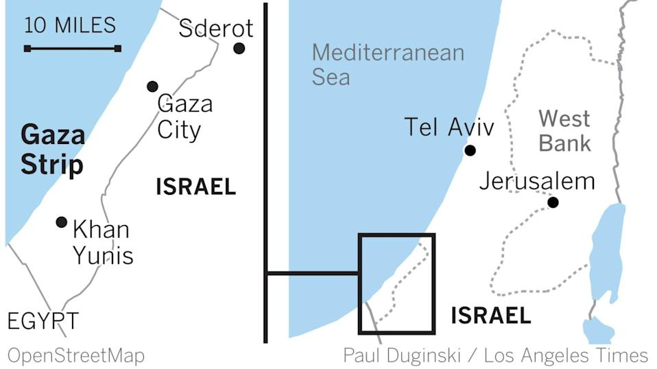 Locator maps of Israel and the Gaza Strip