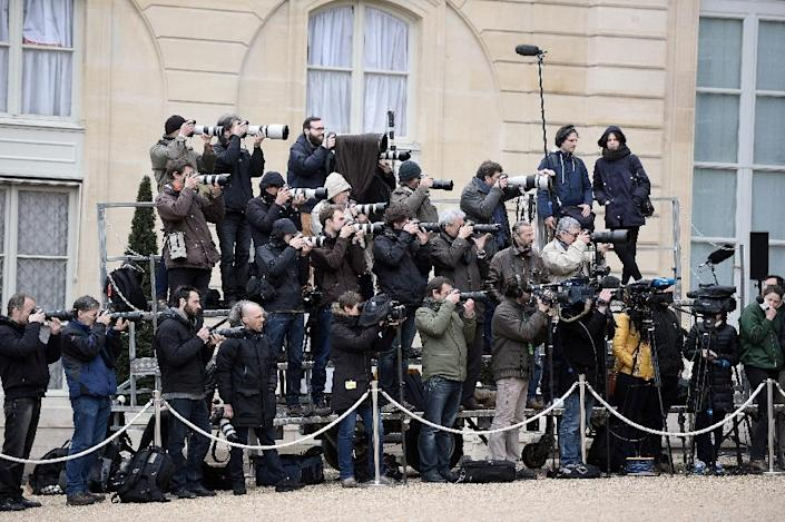 """Europe remains the region with the most press freedom but is nevertheless on """"a downhill course"""", according to Reporters Without Borders (AFP Photo/Stephane de Sakutin)"""