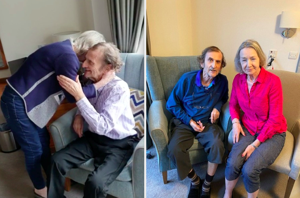 Colin and Jane Bagshaw plan to live together in the Anchor Hanover's Oulton Manor care home long-term. (SWNS)