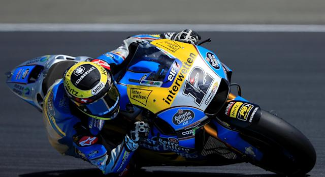 Motorcycling - MotoGP - French Grand Prix - Bugatti Circuit, Le Mans, France - May 19, 2018 EG 0,0 Marc VDS's Thomas Luthi during practice REUTERS/Gonzalo Fuentes