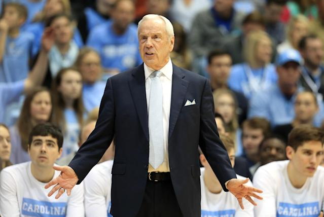 North Carolina's Roy Williams looks on during a game against the Duke Blue Devils on Feb. 08. (Streeter Lecka/Getty Images)