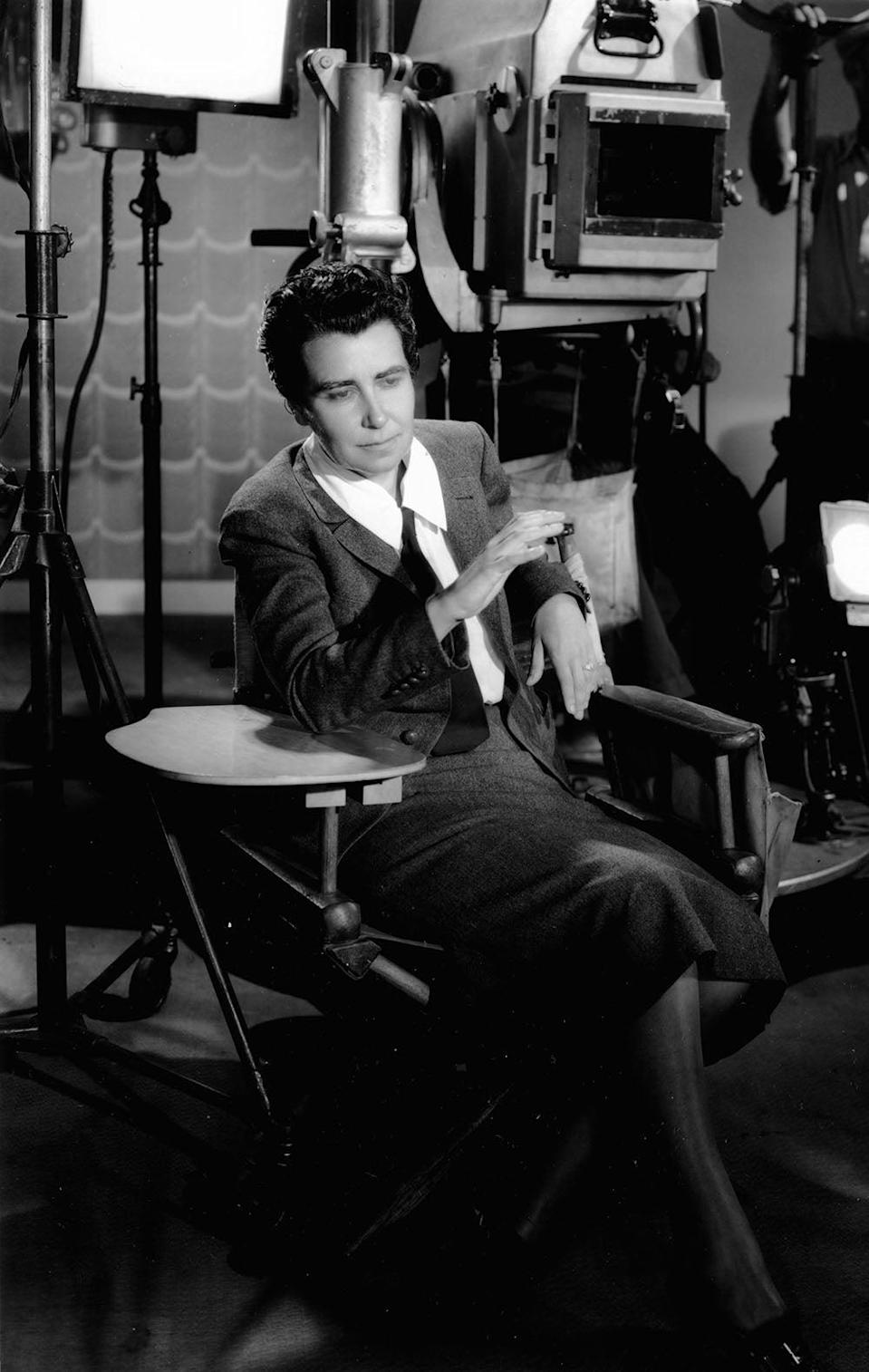 Running the show: Dorothy Arzner photographed on one of her film sets in the 1930s (Kobal/Shutterstock)