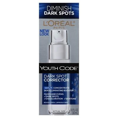 """<strong><h2>L'Oreal Paris Youth Code Dark Spot Corrector Serum</h2></strong><br><a href=""""https://www.instagram.com/drmichellehenry/?hl=en"""" rel=""""nofollow noopener"""" target=""""_blank"""" data-ylk=""""slk:Michelle Henry"""" class=""""link rapid-noclick-resp"""">Michelle Henry</a>, MD, dermatologist and dermatologic surgeon at <a href=""""https://www.drmichellehenry.com/"""" rel=""""nofollow noopener"""" target=""""_blank"""" data-ylk=""""slk:Laser & Skin Surgery Center of New York"""" class=""""link rapid-noclick-resp"""">Laser & Skin Surgery Center of New York</a>, recommends this potent niacinamide-packed serum to nix hyperpigmentation. It melts into a smooth, silky finish and leaves any skin type newly glowing after a few uses.<br><br><strong>L'Oreal Paris</strong> Youth Code™ Dark Spot Corrector Serum, $, available at <a href=""""https://go.skimresources.com/?id=30283X879131&url=https%3A%2F%2Fwww.target.com%2Fp%2Fl-oreal-174-paris-youth-code-153-dark-spot-corrector-serum-1-fl-oz%2F-%2FA-13742791%3Fref%3Dtgt_adv_XS000000%26AFID%3Dgoogle_pla_df%26fndsrc%3Dtgtao%26CPNG%3DPLA_Health%252BBeauty%252BShopping%26adgroup%3DSC_Health%252BBeauty_Top%2BPerformers%26LID%3D700000001170770pgs%26network%3Dg%26device%3Dc%26location%3D9067609%26gclsrc%3Daw.ds%26ds_rl%3D1246978%26ds_rl%3D1247077%26ds_rl%3D1246978%26ref%3Dtgt_adv_XS000000%26AFID%3Dgoogle_pla_df%26CPNG%3DPLA_Health%2BBeauty%2BShopping%26adgroup%3DSC_Health%2BBeauty_Top%2520Performers%26LID%3D700000001170770pgs%26network%3Dg%26device%3Dc%26location%3D9067609%26gclid%3DEAIaIQobChMI4ITF5Inf3wIVUAOGCh0r2QbIEAQYASABEgJvN_D_BwE%26gclsrc%3Daw.ds"""" rel=""""nofollow noopener"""" target=""""_blank"""" data-ylk=""""slk:Target"""" class=""""link rapid-noclick-resp"""">Target</a>"""