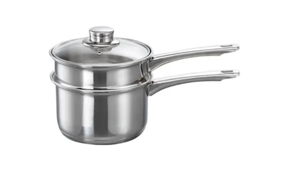 Baccarat gourmet stainless steel double boiler, $49.99,