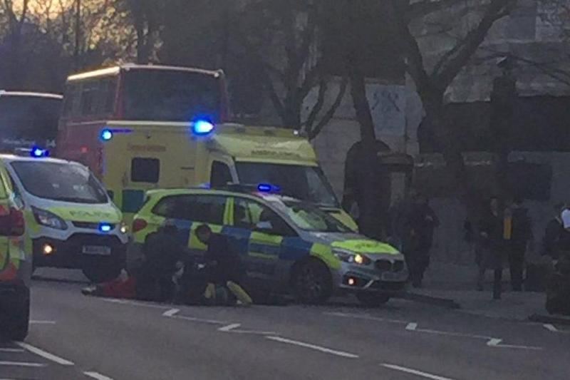 Police and paramedics were called to the scene on Monday afternoon: Twitter/@AnnaBacon10