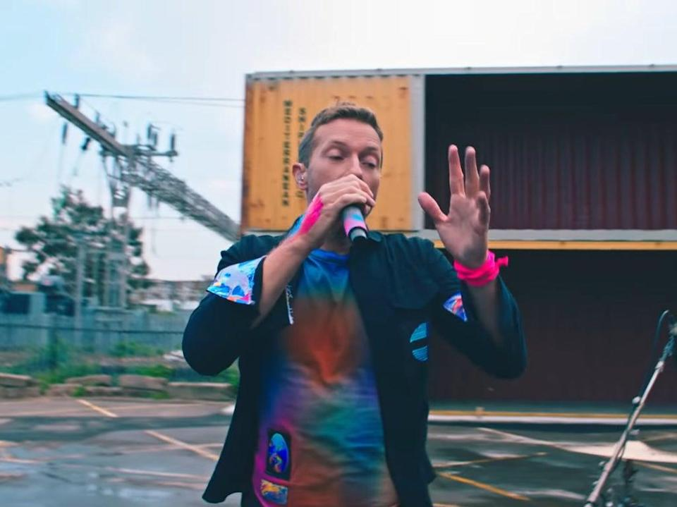 Chris Martin in the music video for 'Higher Power' (Coldplay via YouTube)