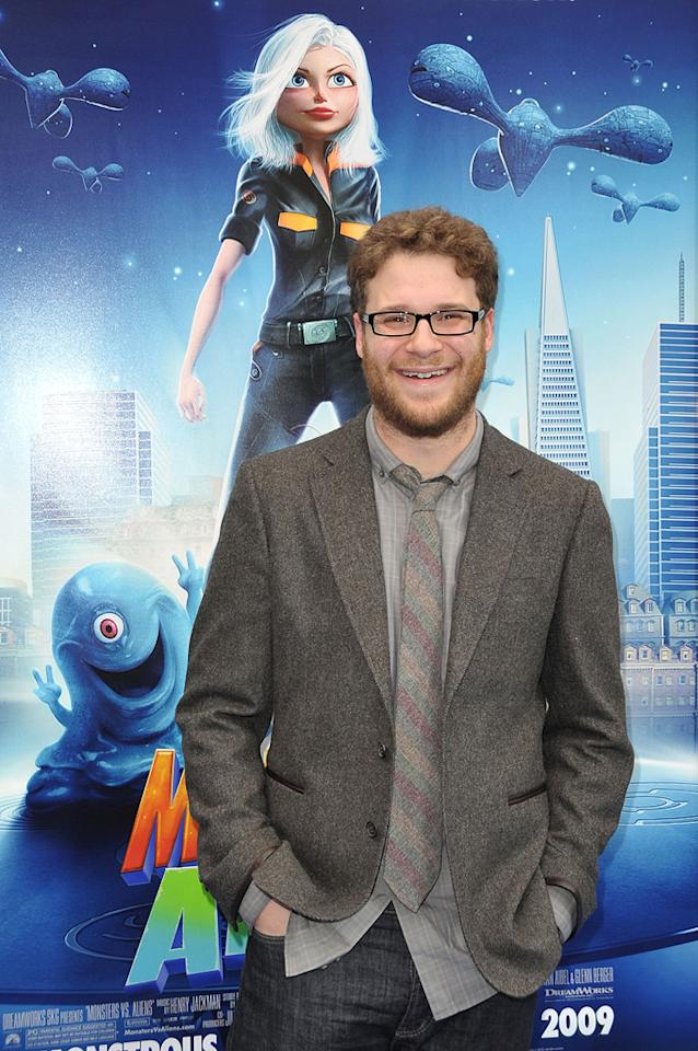 "<a href=""http://movies.yahoo.com/movie/contributor/1804494942"">Seth Rogen</a> at the Los Angeles premiere of <a href=""http://movies.yahoo.com/movie/1809918074/info"">Monsters vs. Aliens</a> - 03/22/2009"