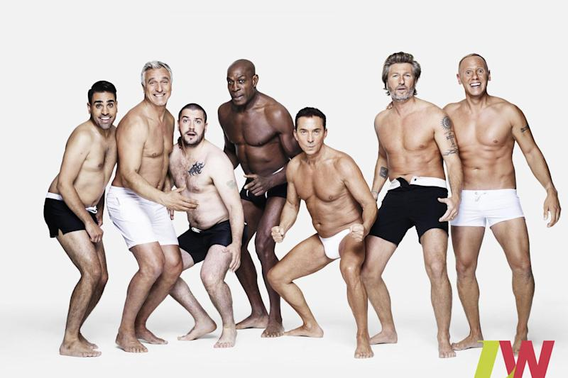 A group of male celebrities have stripped off to promote body confidence: PA