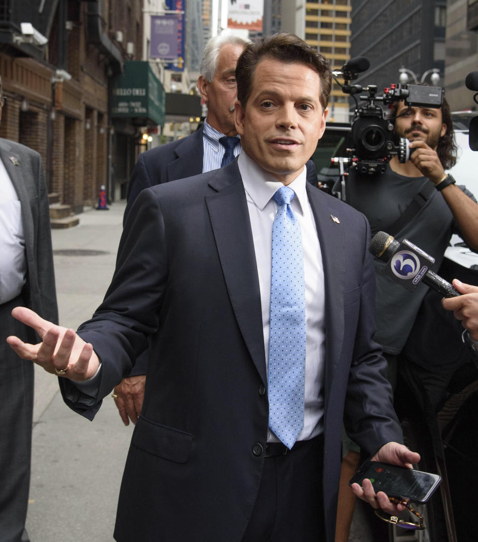 Photo by: SBN/STAR MAX/IPx 2019 8/12/19 Anthony Scarammucci announced today that he will no longer support Trump's Reelection. STAR MAX File Photo: 8/14/17 Anthony Scaramucci is seen in New York CIty.