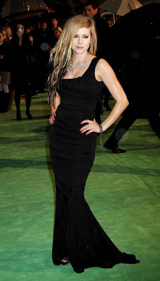 """<a href=""""http://movies.yahoo.com/movie/contributor/1807882763"""">Avril Lavigne</a> at the London premiere of <a href=""""http://movies.yahoo.com/movie/1810078365/info"""">Alice in Wonderland</a> - 02/25/2010"""