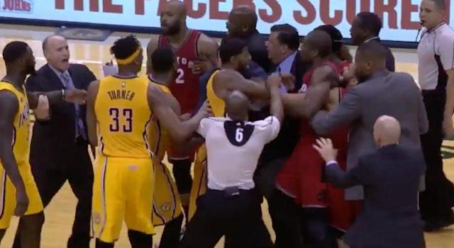 The Raptors took offence at Stephenson's play, regarded as breaking an unwritten code amongst players.
