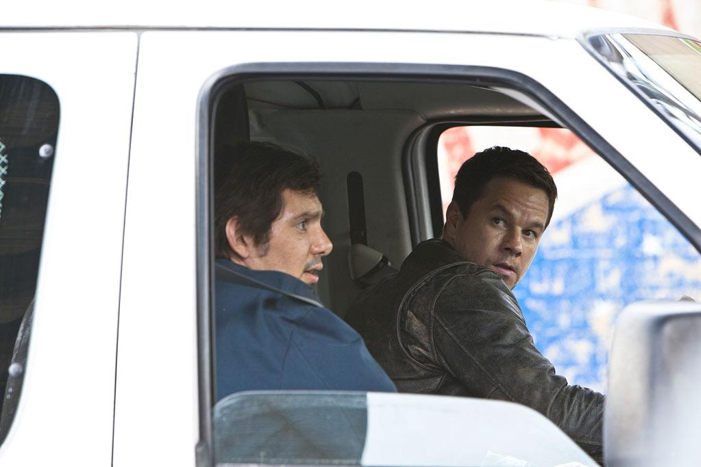 """<a href=""""http://movies.yahoo.com/movie/contributor/1800018752"""">Lukas Haas</a> and <a href=""""http://movies.yahoo.com/movie/contributor/1800019716"""">Mark Wahlberg</a> in Universal Pictures' <a href=""""http://movies.yahoo.com/movie/1810228610/info"""">Contraband</a> - 2012"""