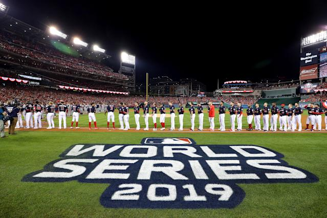 The Washington Nationals have canceled their virtual ring ceremony scheduled for May 24. (Photo by Alex Trautwig/MLB Photos via Getty Images)
