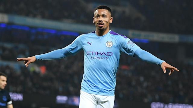 Manchester City beat Everton 2-1 in Wednesday's Premier League clash at the Etihad Stadium thanks to Gabriel Jesus' quickfire double.