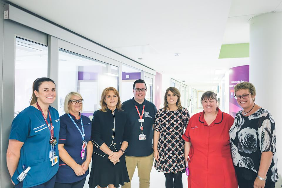 Sarah and Eugenie at Alder hey in 2017