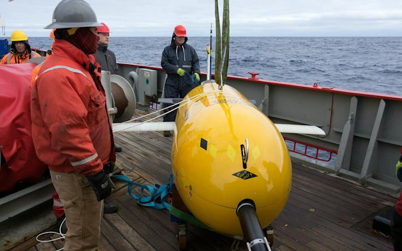 Scientists say that data collected from the yellow submarines's first expedition will help them build more accurate predictions - Povl Abrahamsen /BAS /SWNS.COM
