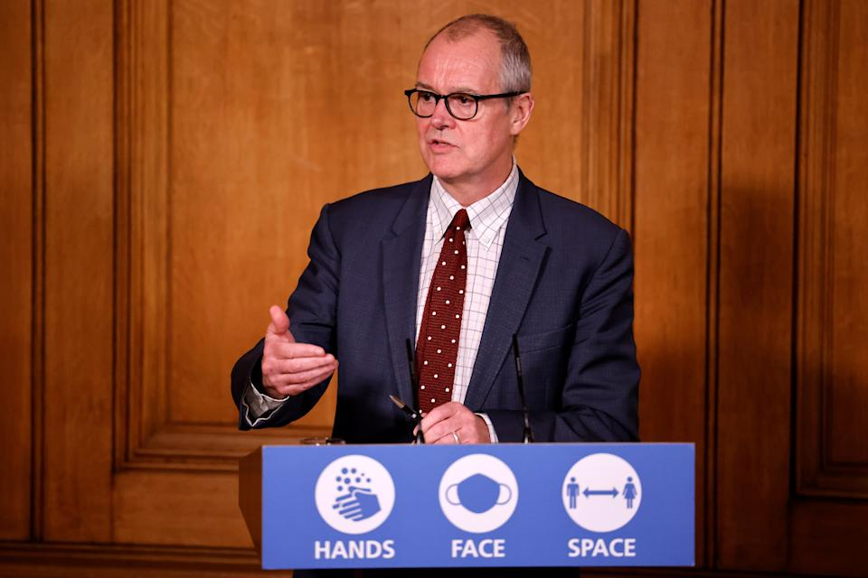 Chief scientific adviser Sir Patrick Vallance during a media briefing in Downing Street, London, on Covid-19.