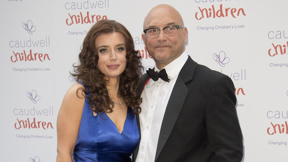 Gregg Wallace and his wife at the Caudwell Children Butterfly Ball in London (Julian Parker/UK Press via Getty Images)
