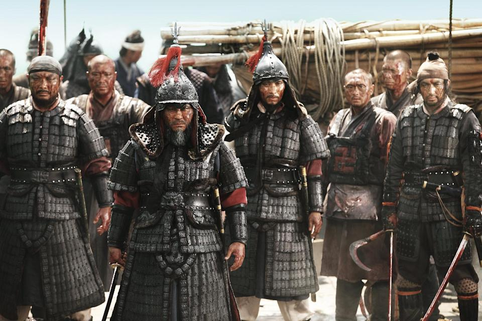 """A movie still from the South Korean action blockbuster film """"Myeongryang"""" (Roaring Currents), August 16, 2014 (AFP Photo/)"""