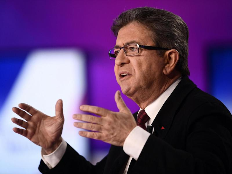 French Left party leader Jean-Luc Melenchon (Martin Bureau/AP)