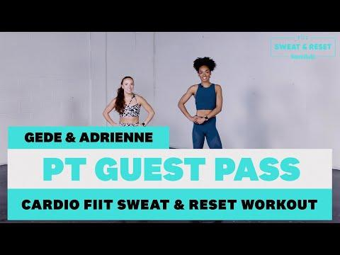 """<p>No need to despair if you don't have a <a href=""""https://www.womenshealthmag.com/uk/fitness/workouts/a707829/treadmill-workout/"""" target=""""_blank"""">treadmill</a> or exercise bike at home – this workout is a <a href=""""https://www.womenshealthmag.com/uk/fitness/a707685/best-cardio-for-weight-loss/"""" target=""""_blank"""">cardio</a> burst that requires nothing besides your commitment and effort. </p><p>It's broken up into three circuits with a finisher at the end to leave you panting. </p><p>In each circuit every two seconds of work will earn you one second of rest, so make sure to work hard for the entire 'on' period. If you need to modify, look to Gede on the left as she's demonstrating the regressed version of the move! </p><p><strong>Targets: </strong>Full body<strong></strong></p><p><strong>Duration: </strong>25 minutes<strong><br></strong></p><p>This workout is actually just a taste of what you can get in the full Women's Health x FIIT 10 week <a href=""""https://fiit.tv/campaigns/womens-health?utm_campaign=womens-health&utm_source=organic-content&utm_medium=referral&at_ref=gf7xeju&ppva=3"""" target=""""_blank"""">Sweat & Reset Plan</a> designed to get you feeling fitter and better than ever. Get 14 Days free now. </p><p><a class=""""body-btn-link"""" href=""""https://fiit.tv/campaigns/womens-health?at_ref=gf7xeju&ppva=3"""" target=""""_blank"""">Go to Sweat and Rest 10 Week Plan</a></p><p><a href=""""https://www.youtube.com/watch?v=JSeSAZXwxs0"""">See the original post on Youtube</a></p>"""