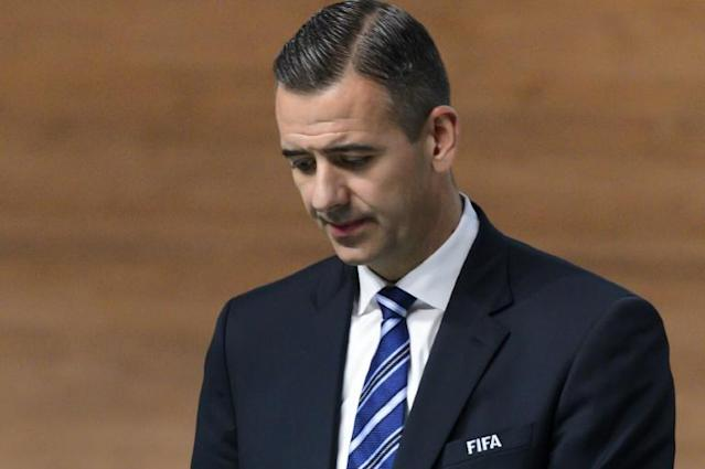 FIFA's former acting secretary general Kattner has been banned from all football-related activity for 10 years and fined one million Swiss francs ($1.056m) (AFP Photo/FABRICE COFFRINI)