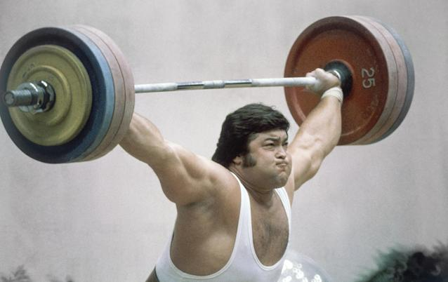 Soviet weightlifter Sultan Rakhmanov won one of 80 gold medals for the Soviet Union at the 1980 Summer Olympics. (AP)