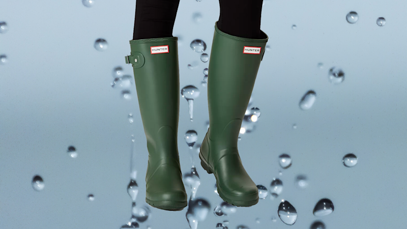 With these classic rubber boots, you'll be wishing for rain. (Photo: Hunter)