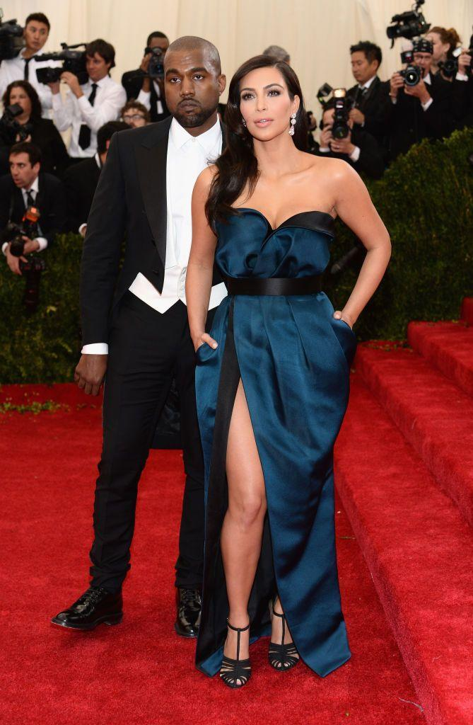 <p>One year later and Kardashian wore a blue Lanvin gown at the prestigious gala event.</p>