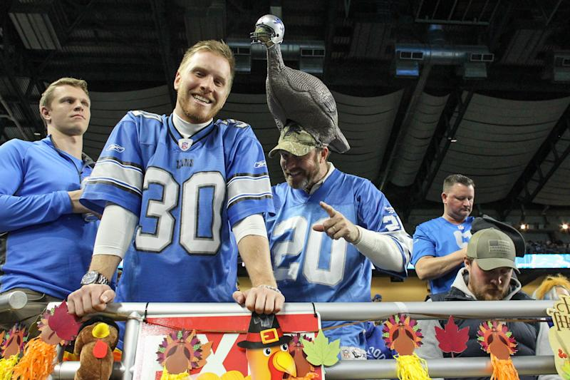 Never fear, turkey hat-wearing Lions and Cowboys fans. The Eagles withdrew their proposal to alternate home games between Dallas and Detroit for Thanksgiving games. (Photo by Scott W. Grau/Icon Sportswire via Getty Images)