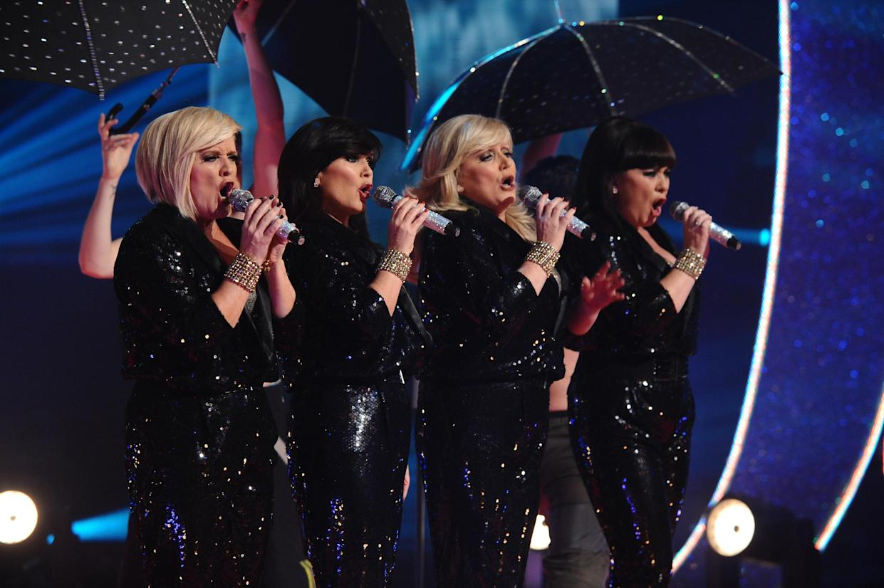 EDITORIAL USE ONLY. The Nolans perform during the Children in Need appeal night at BBC Television Centre in west London.