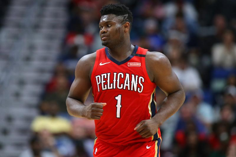 After being listed as a game-time decision, Zion Williamson will play Thursday against the Jazz. (Jonathan Bachman/Getty Images)