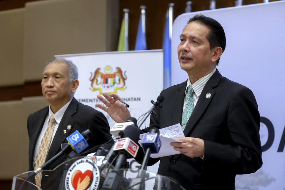 Health director-general Datuk Dr Noor Hisham Abdullah said Malaysia's death toll from Covid-19 went up to 122 today with the death of a 72-year-old Malaysian man. — Bernama pic