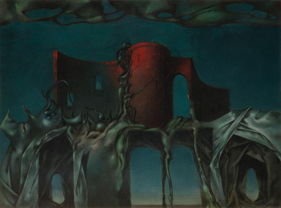 <p> Dorothea Tanning's The Witch is among work being sold in Sotheby's first all-female sale</p> (Sothebys)