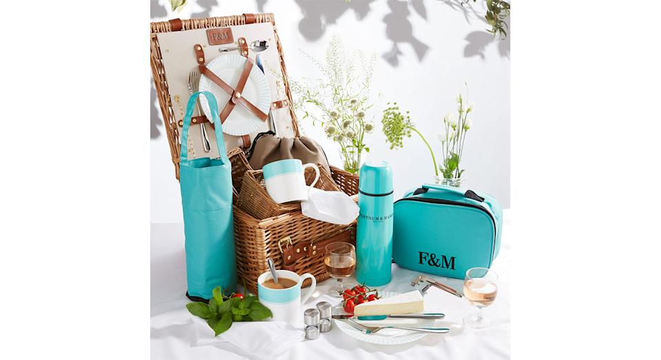 Piccadilly Stripe 2 Person Picnic Hamper (Fortnum & Mason)