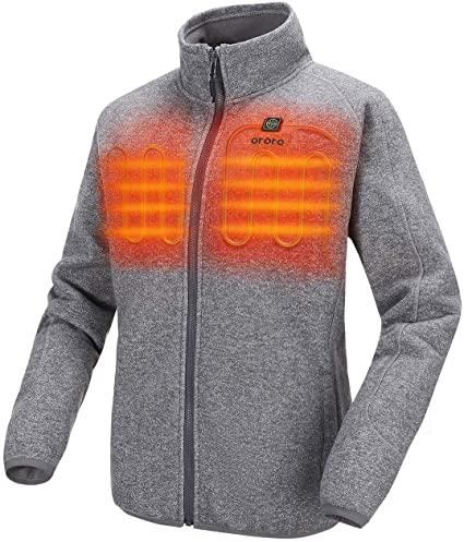 Women's Heated Jacket-Full Zip Fleece Jacket. Image via Amazon.