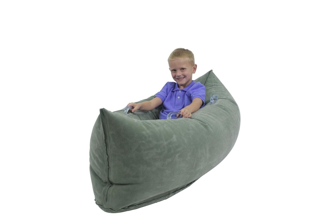"<p>Add this <a href=""https://www.popsugar.com/buy/Abilitations-Inflatable-Pea-Pod-108386?p_name=Abilitations%20Inflatable%20Pea%20Pod&retailer=amazon.com&pid=108386&price=77&evar1=moms%3Aus&evar9=44282581&evar98=https%3A%2F%2Fwww.popsugar.com%2Ffamily%2Fphoto-gallery%2F44282581%2Fimage%2F44282653%2FAbilitations-Inflatable-Pea-Pod&list1=holiday%2Cgift%20guide%2Ckids%2Cautism%2Clittle%20kids%2Choliday%20for%20kids&prop13=mobile&pdata=1"" rel=""nofollow"" data-shoppable-link=""1"" target=""_blank"" class=""ga-track"" data-ga-category=""Related"" data-ga-label=""https://www.amazon.com/Abilitations-1512739-Inflatable-Kindergarten-Height/dp/B0101M7XXS"" data-ga-action=""In-Line Links"">Abilitations Inflatable Pea Pod</a> ($77) to your family or kids' room to provide a space for your child to receive a squeeze, helping them reset.</p>"