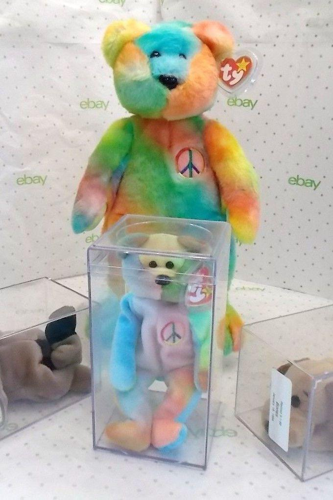 """<p>HAHAHAHA remember Beanie Babies? Yeah, I wish I didn't either. But a few of them are worth some money. These peace-loving dudes run up to <a href=""""https://www.ebay.com/itm/RARE-Free-Shipping-1996-Peace-beanie-baby-collectible-12-Errors-Ends-Soon/123841322942?hash=item1cd5849fbe:g:MV0AAOSwX65dMR7F"""" rel=""""nofollow noopener"""" target=""""_blank"""" data-ylk=""""slk:$80"""" class=""""link rapid-noclick-resp"""">$80 </a>a bear. But wait, there's more...</p>"""