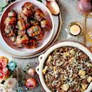 """<p>Full of fresh flavours, this recipe couldn't be simpler. It would also make a lovely filling for a <a href=""""https://www.goodhousekeeping.com/uk/food/recipes/a537044/lentil-stuffed-squash/"""" rel=""""nofollow noopener"""" target=""""_blank"""" data-ylk=""""slk:stuffed squash"""" class=""""link rapid-noclick-resp"""">stuffed squash</a> or pepper.</p><p><strong>Recipe: <a href=""""https://www.goodhousekeeping.com/uk/food/recipes/a30254700/easy-veggie-stuffing/"""" rel=""""nofollow noopener"""" target=""""_blank"""" data-ylk=""""slk:Easy Veggie Stuffing"""" class=""""link rapid-noclick-resp"""">Easy Veggie Stuffing</a></strong></p>"""