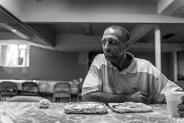 <p>Gene Robinson, a recovering heroin addict. He first used heroin in 2009, after finding his then-wife dead of a painkiller overdose.<br> (Photograph by Mary F. Calvert for Yahoo News) </p>