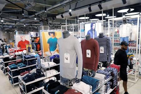 Items for sale are displayed inside of a Primark store in the Brooklyn borough of New York