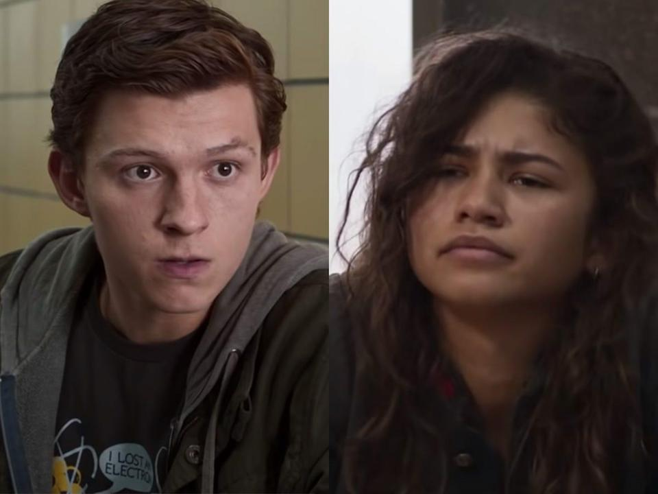 """Tom Holland and Zendaya as Peter and MJ in """"Spider-Man: Homecoming."""""""