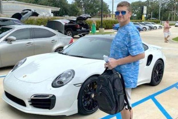 Casey William Kelley is accused of using a fake cheque to buy a £100,000 Porsche: Walton County Sheriff's Office