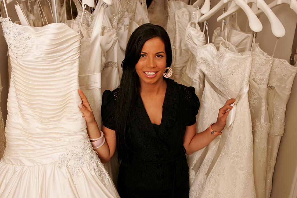 """Gina, the receptionist at Kleinfeld Bridal, on """"Say Yes to the Dress."""""""