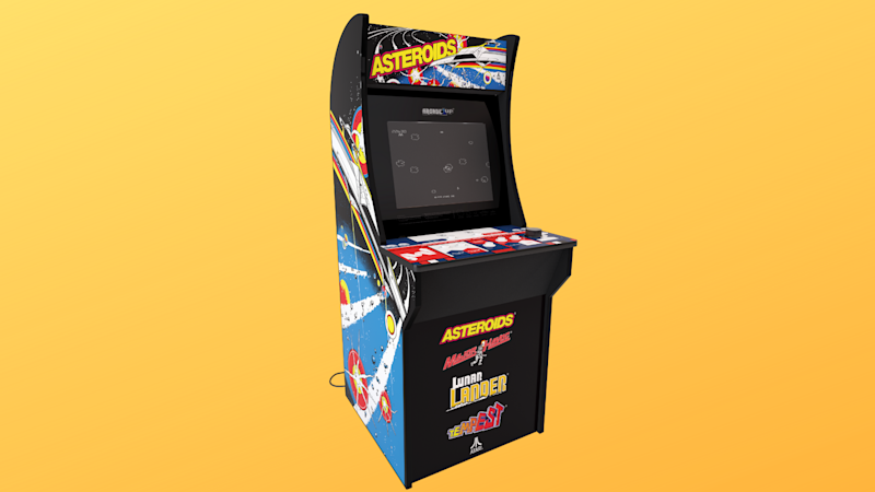 Go old school with this Asteroids arcade cabinet. (Photo: Walmart/Yahoo Lifestyle)
