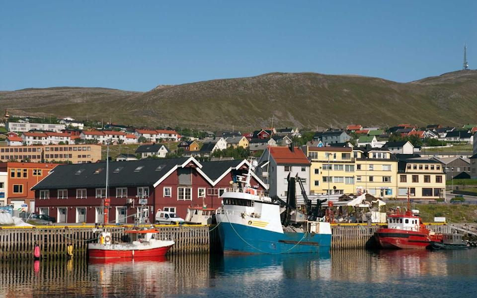 """<p>If you want to get well into the Arctic Circle to experience the Polar Night, there's only one place to go. Known as the northernmost town in the World, <a rel=""""nofollow noopener"""" href=""""http://visithammerfest.no/en"""" target=""""_blank"""" data-ylk=""""slk:Hammerfest"""" class=""""link rapid-noclick-resp"""">Hammerfest</a> lies at 70° N and from late November to late January experiences almost 24 hours of darkness. Cue the constant possibility of Northern Lights.</p>"""