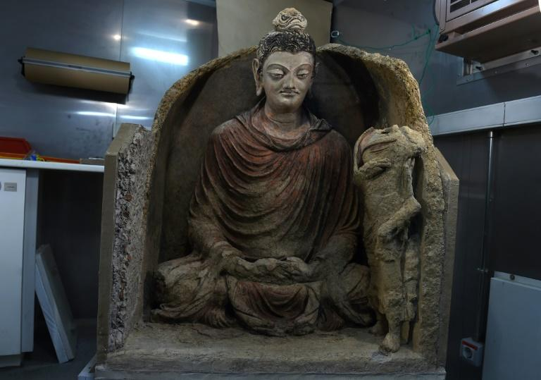The statue of Buddha, which is thought to date from somewhere between the third and the fifth century, was remarkably well-preserved by soil and silt