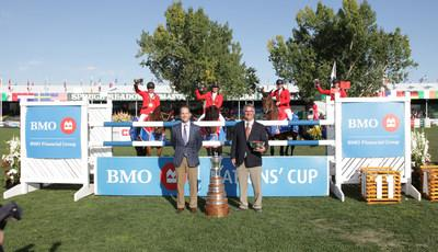 Team Belgium Claim Victory in the 2019 BMO Nations' Cup at Spruce Meadows (CNW Group/BMO Financial Group)
