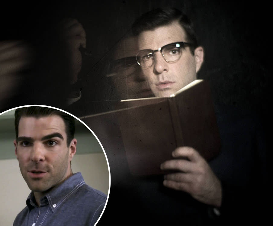 "<b>Zachary Quinto</b><br><br><b>You Know Him From:</b> His Season 1 role as Chad (inset), one half of a gay couple who were murdered in the Harmons' house and are now stuck there as ghosts for eternity. He also played Sylar on ""Heroes"" and Spock in the big-screen ""Star Trek"" reboot.<br><br><b>Now He Plays:</b> Dr. Oliver Thredson, a psychiatrist at Briarcliff whose progressive ideas about how patients should be treated conflict with Sister Jude's. (Good luck winning that battle, buddy.)"