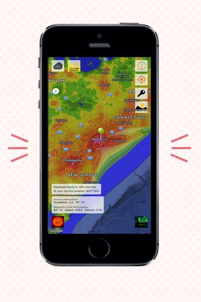 """<p>Stargazing isn't much fun when you can't actually <em>see</em> any stars — this app can help. Light Pollution Map helps you locate dark sky locations as well as light pollution so you can get the best experience (and the best photos) when you head out for your stargazing adventure. It offers a lot more than that, too: There's an aurora borealis live viewing map; alerts for meteor showers, super moons, and lunar eclipses; an international space station tracker; and more. </p><p>Cost: Free for <a href=""""https://apps.apple.com/us/app/light-pollution-map-dark-sky/id1200379779"""" rel=""""nofollow noopener"""" target=""""_blank"""" data-ylk=""""slk:iOS"""" class=""""link rapid-noclick-resp"""">iOS</a> and <a href=""""https://play.google.com/store/apps/details?id=com.pa.lightpollutionmap&hl=en_US&gl=US"""" rel=""""nofollow noopener"""" target=""""_blank"""" data-ylk=""""slk:Android"""" class=""""link rapid-noclick-resp"""">Android</a>.</p>"""